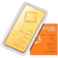 Cheap 1 Kilo or kg Valcambi Gold Bar (New w/ Assay)