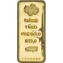 Cheap 1 Kilogram PAMP Suisse Gold Bar (New, Cast w/ Assay)